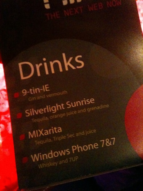 Microsoft_mix_drinks_menu